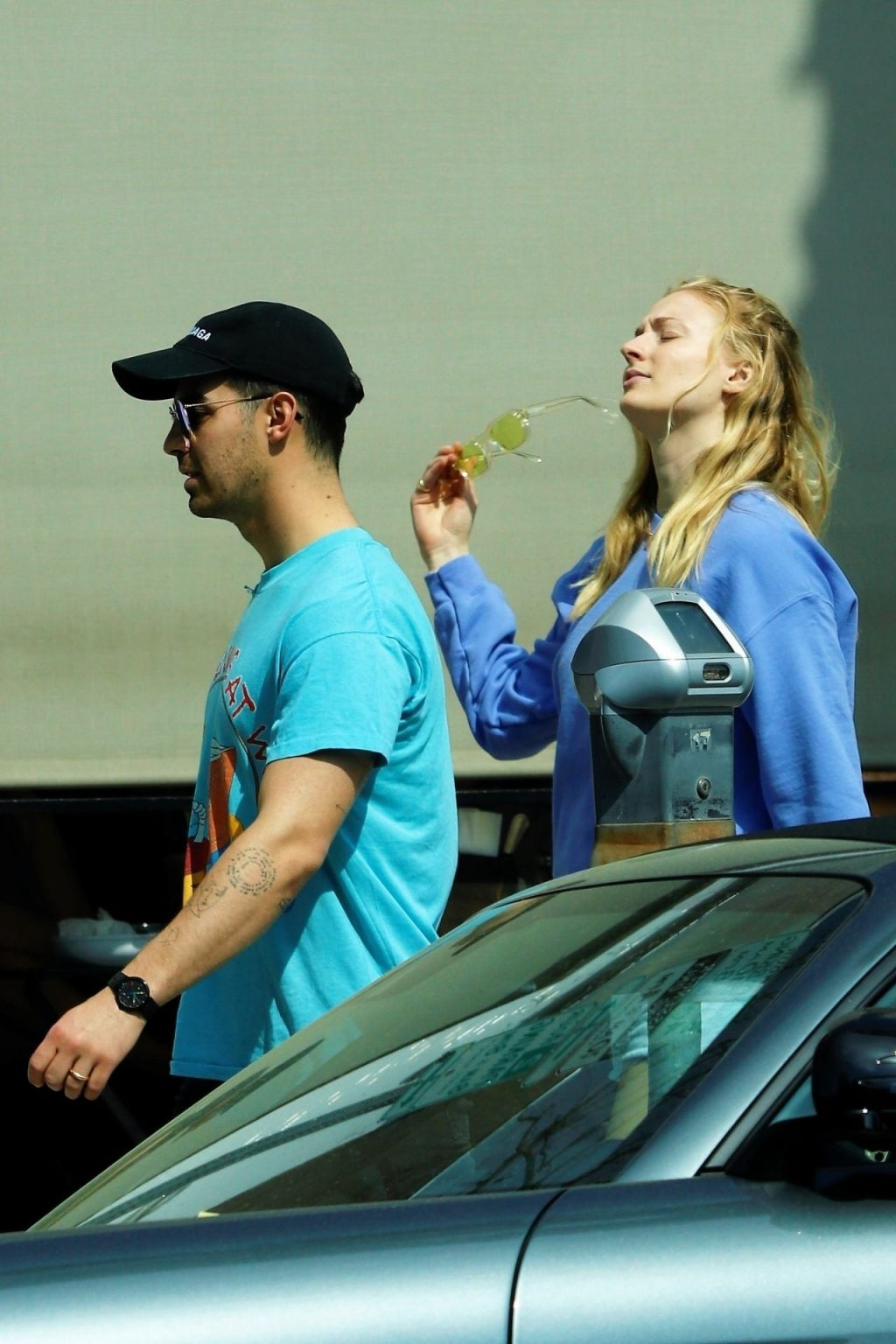 Joe Jonas Grabs Himself a HANDFUL of Wifey Sophie Turner While Out at Lunch (32 Photos)