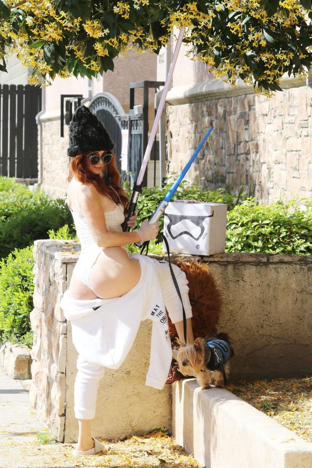 Phoebe Price Shows Her Jedi Butt and Tits (9 Photos)