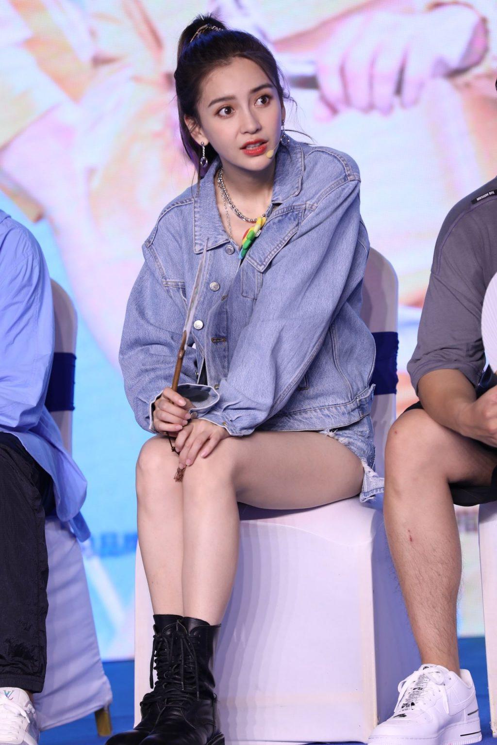 Angelababy Flaunts Her Sexy Slender Legs in Beijing (6 Photos)