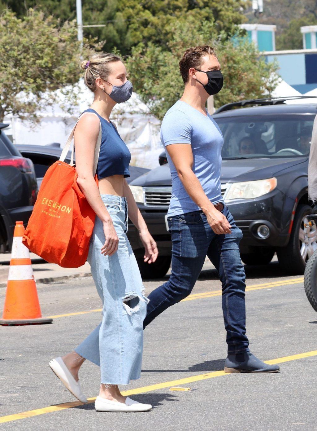 Brie Larson & Elijah Allan-Blitz are Seen in Malibu (14 Photos)
