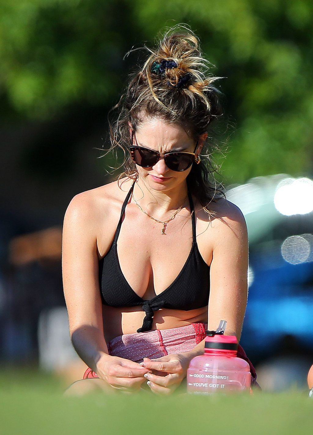 Sexy Lily James Enjoys a Sunny Day in London (50 Photos)