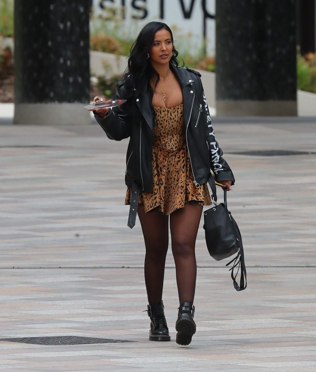 Maya Jama Shows Off Her Cleavage in London (27 Photos)
