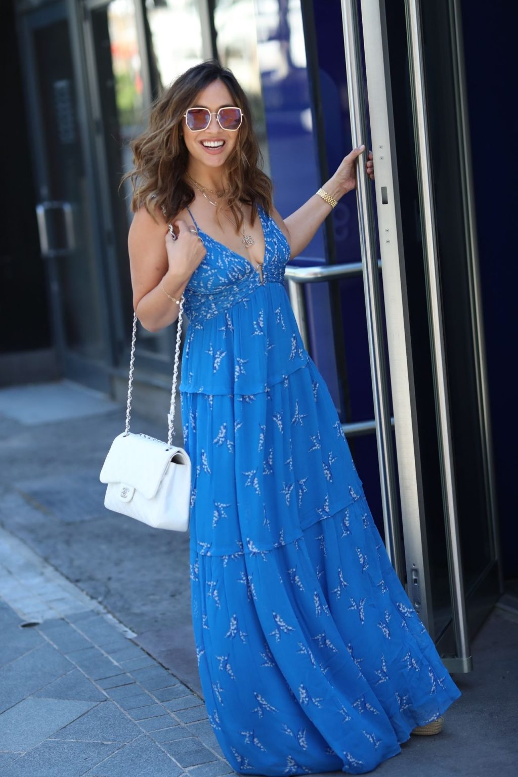 Myleene Klass Stuns in a Blue Dress in London (46 Photos)
