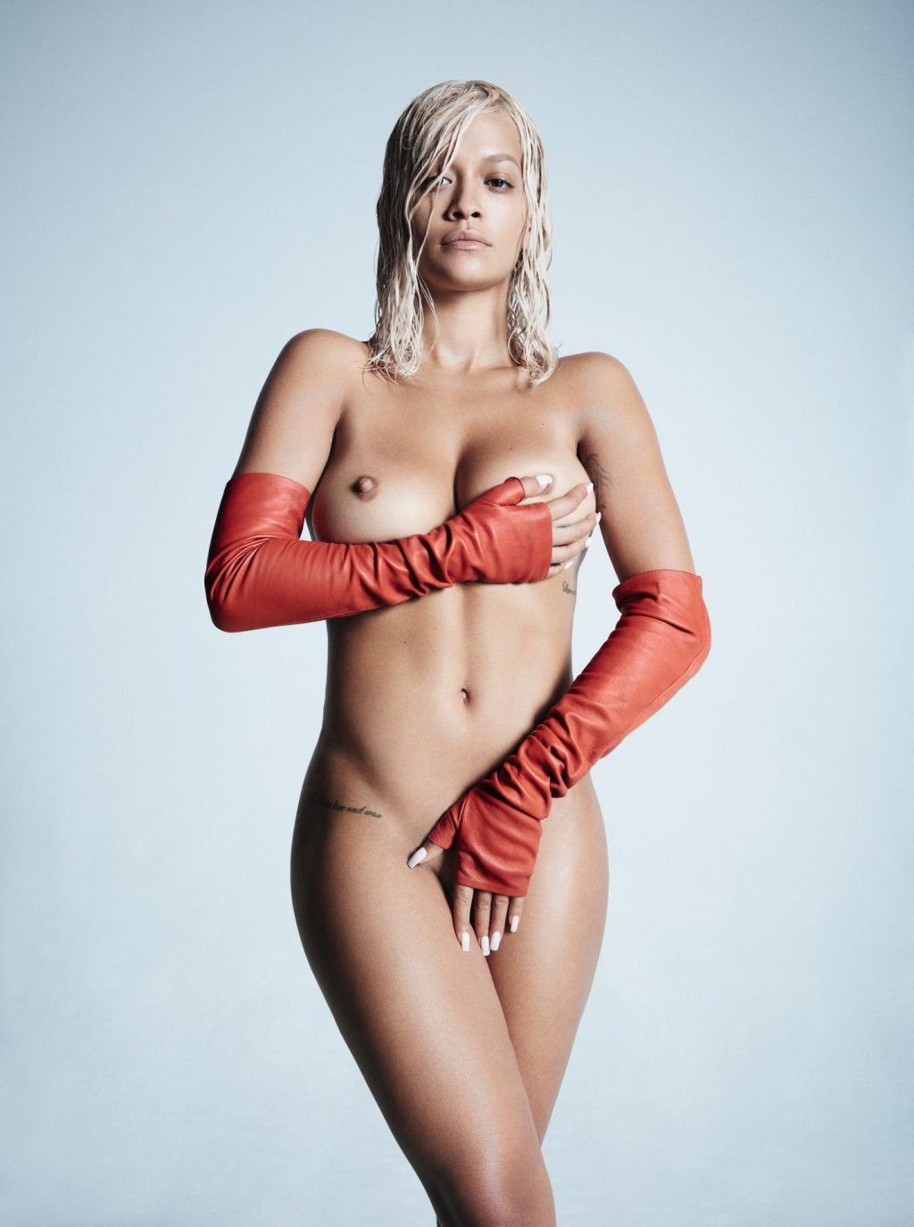 Rita Ora Shows Her Nude Tits for Clash (2 Photos)