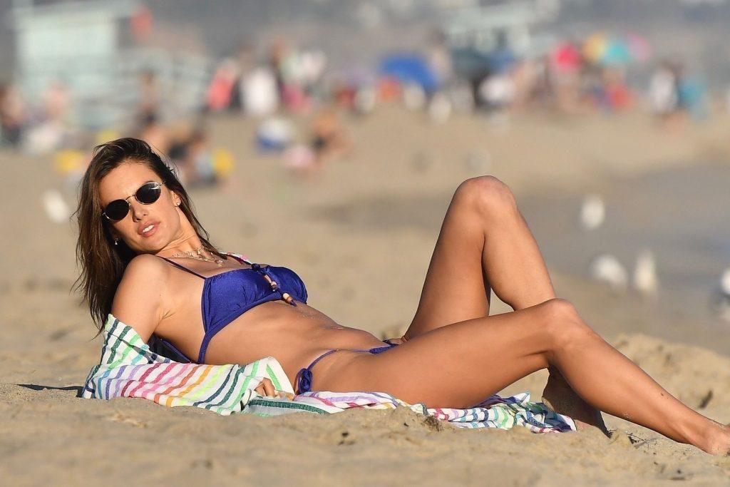 Alessandra Ambrosio Looks Gorgeous During a Golden Hour Beach Photoshoot (155 Photos)