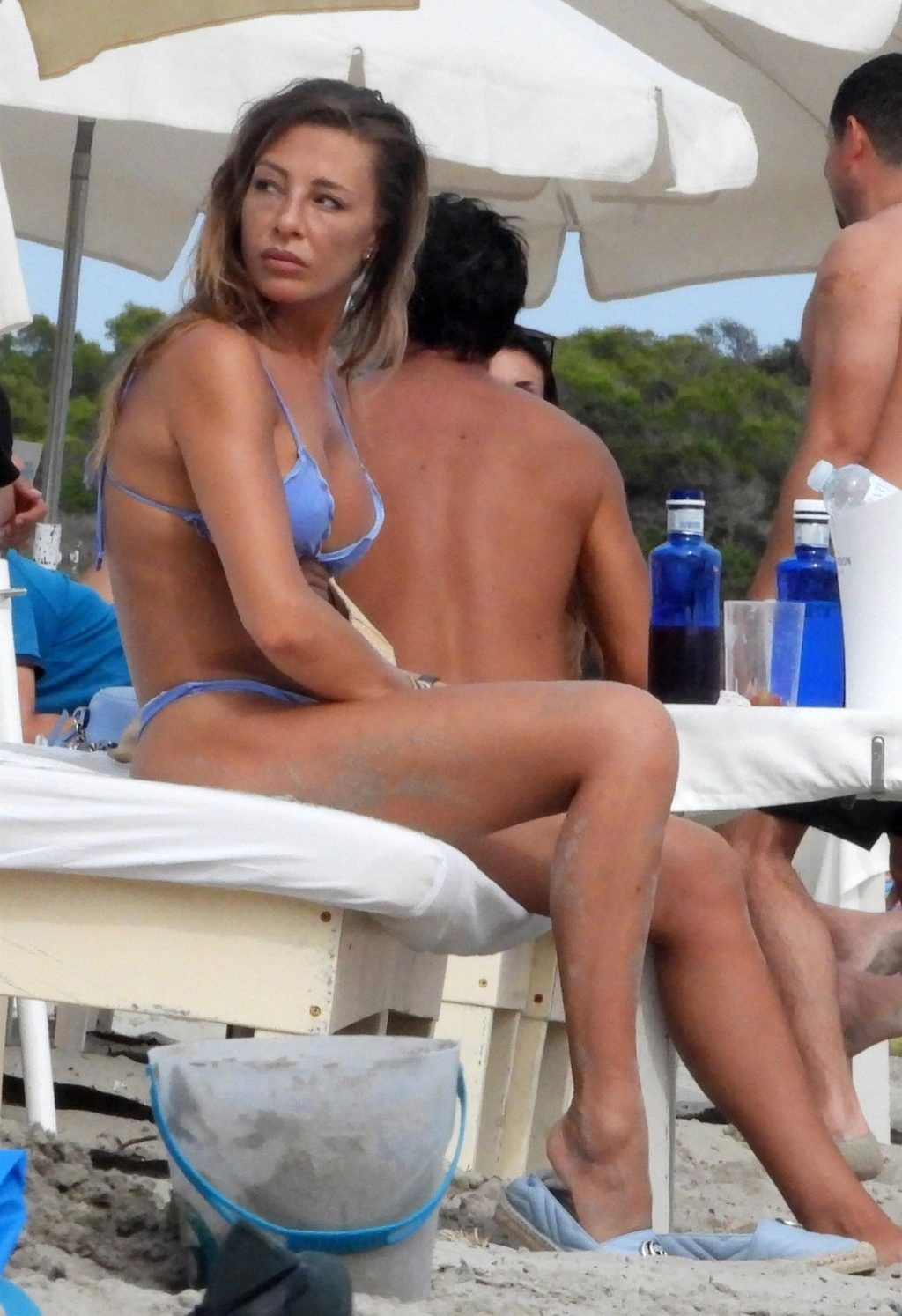 Alessia Tedeschi Enjoys a Day at the Beach with a Friend in Ibiza (18 Photos)