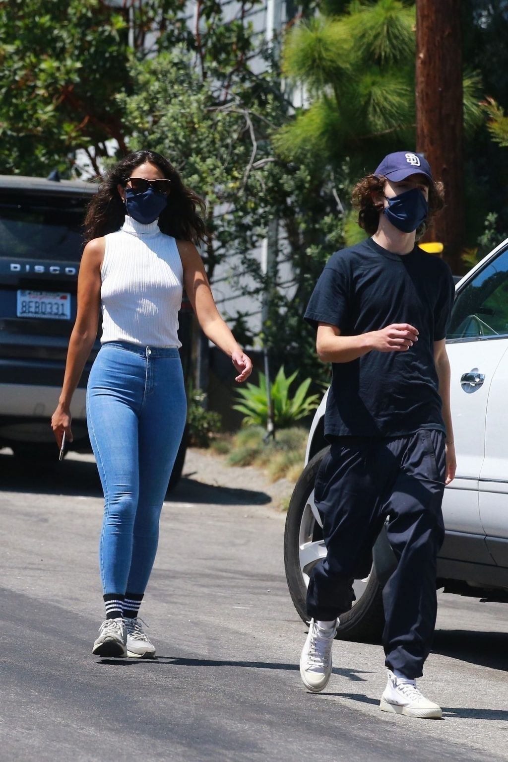 Braless Eiza González & Timothée Chalamet Go for a Hike in LA (15 Photos)