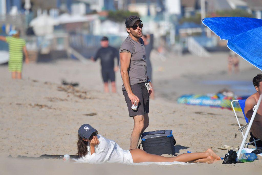 Paul Wesley & Ines de Ramon Spend a Day on a Sunny Malibu Beach (17 Photos)