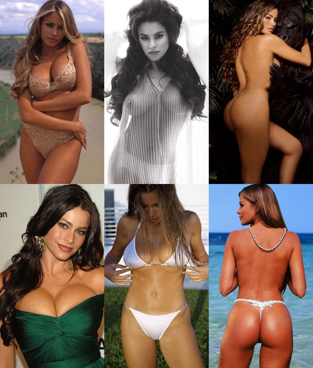 Sofia Vergara Nude & Sexy (1 Collage Photo)
