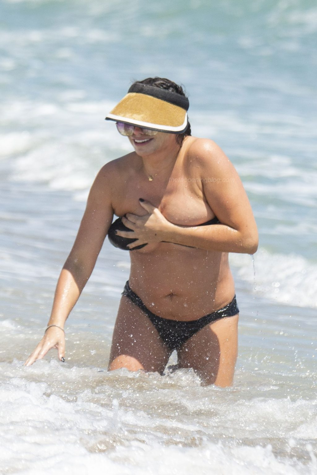 Stacey Giggs Struggles to Keep Her Bikini in Place as She Splashes in the Marbella Waves (38 Photos)