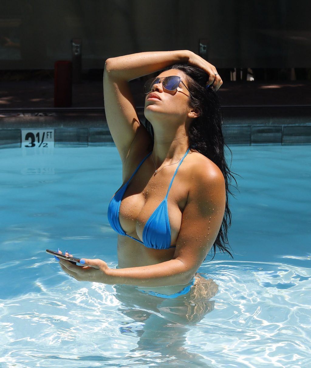 Suelyn Medeiros Shows Off Her Curves at a Luxury Hotel in LA (47 Photos)