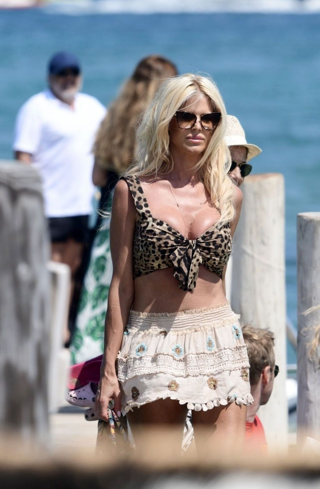 Victoria Silvstedt Is Seen Arriving at Club 55 in St Tropez (30 Photos)