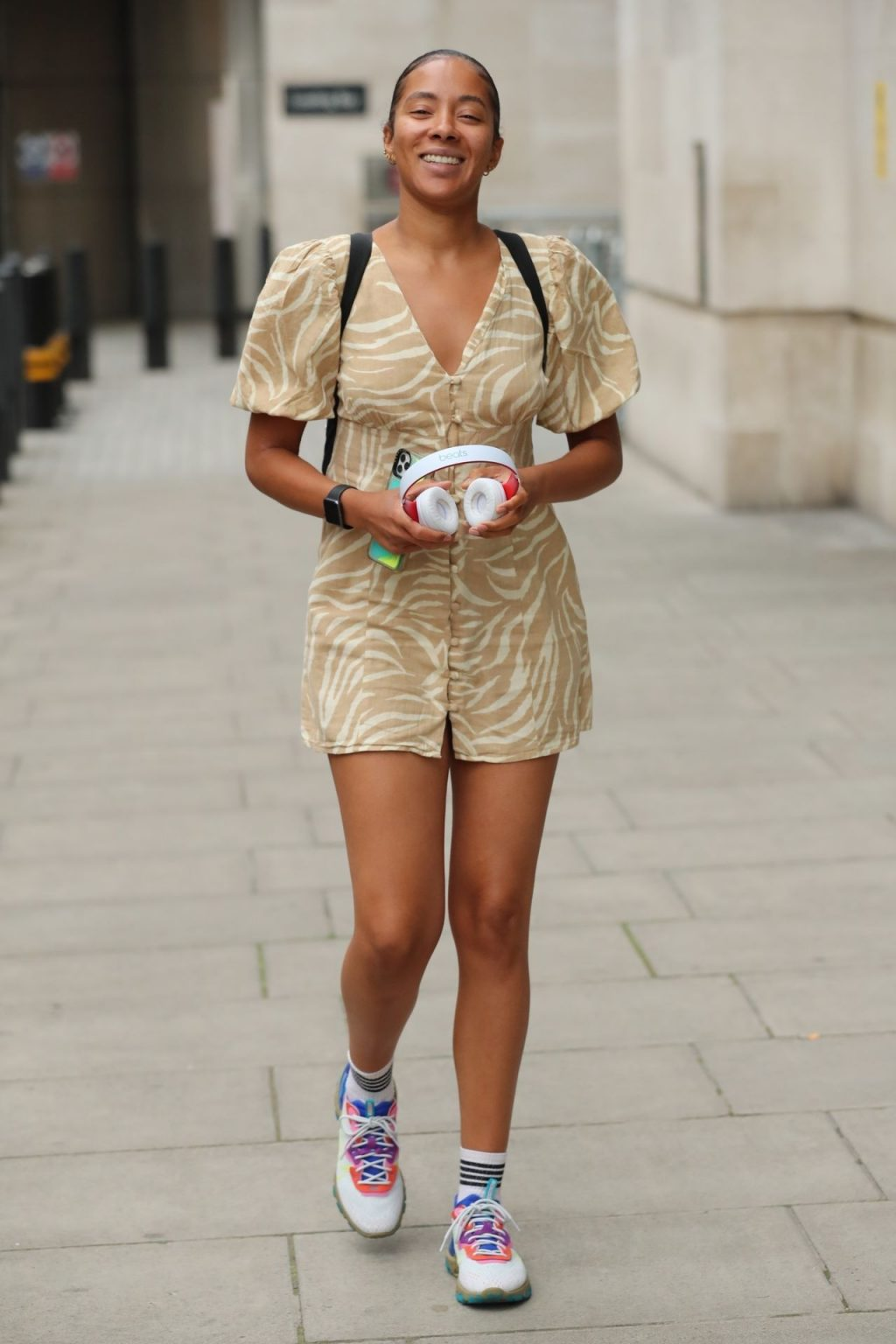 Yasmin Evans Looks Sexy in a Minidress While Pictured Leaving BBC Studios (21 Photos)