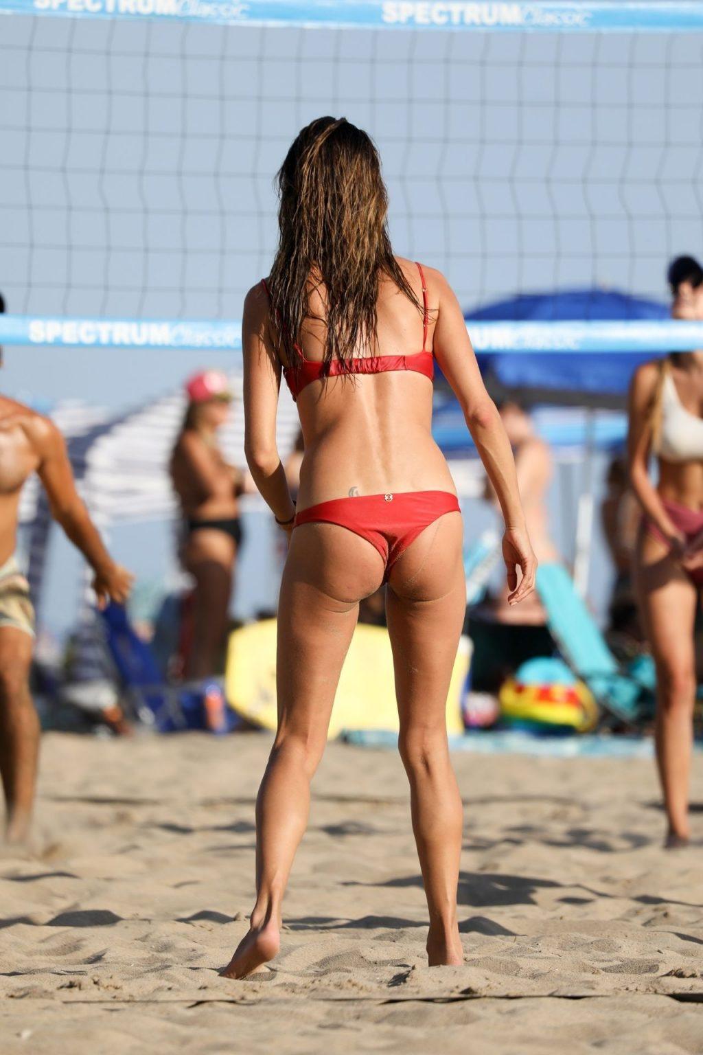 Alessandra Ambrosio Turns Heads in a Red Bikini on the Beach (169 Photos)