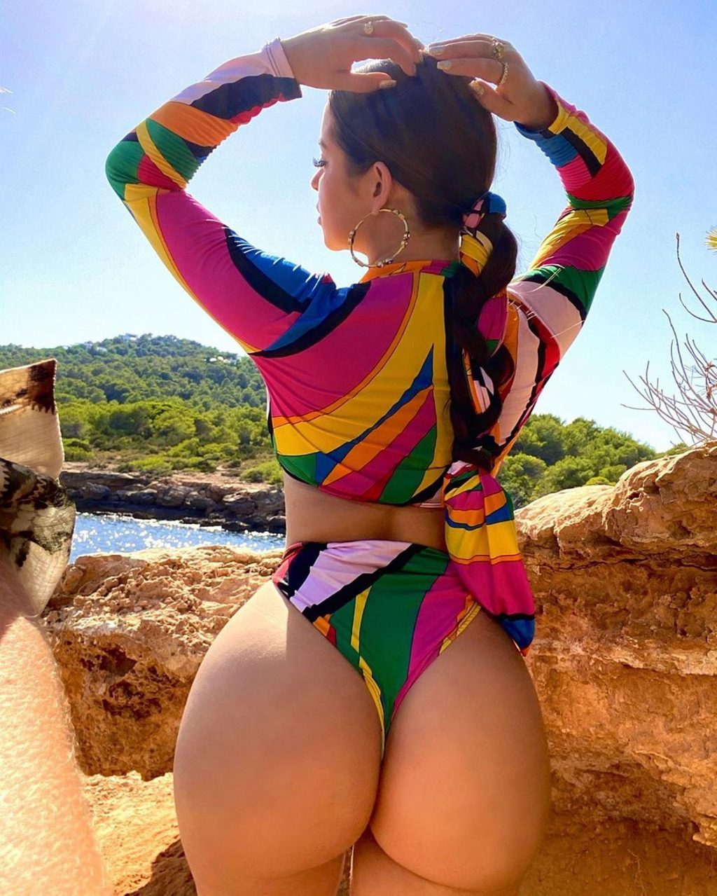 Demi Rose Shows Off Her Assets in Ibiza (33 Photos + Video)