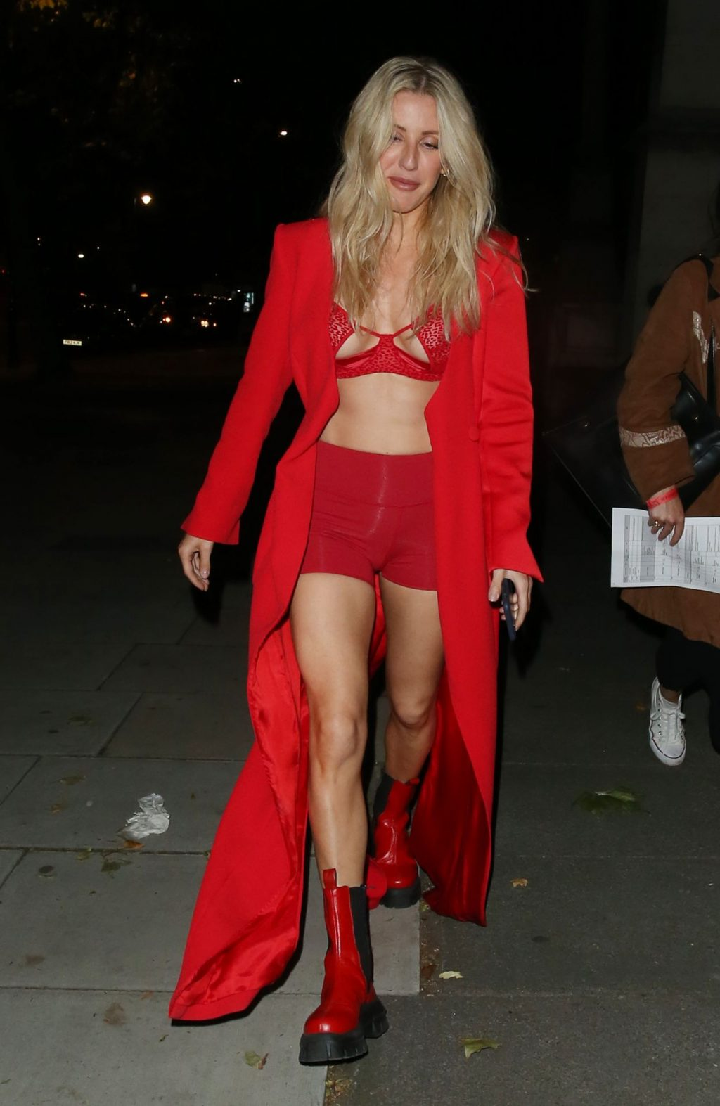 Ellie Goulding Shows Her Tits, Cameltoe and Legs in London (103 Photos)