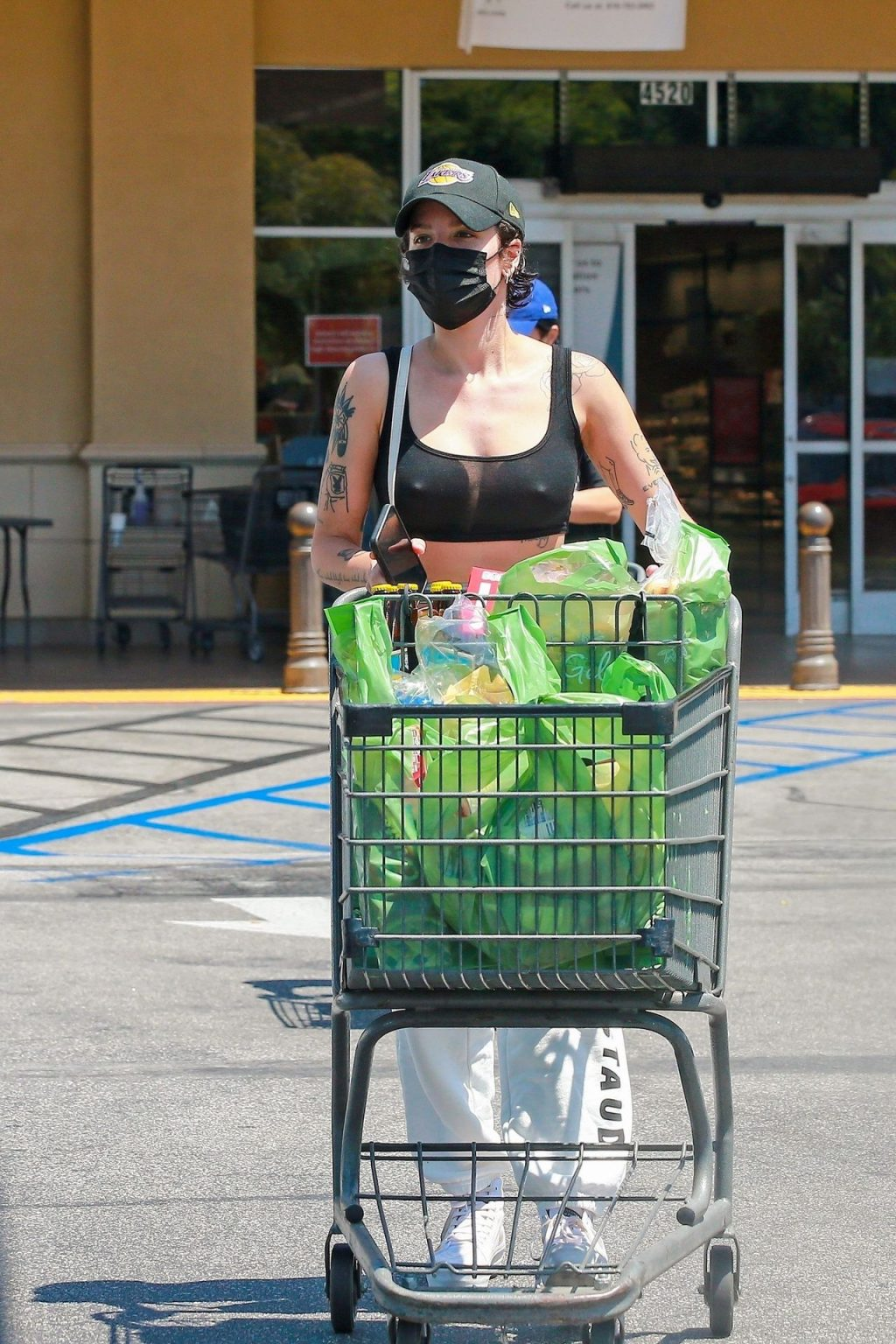 Sexy Halsey Stops by the Grocery Store in LA (27 Photos)