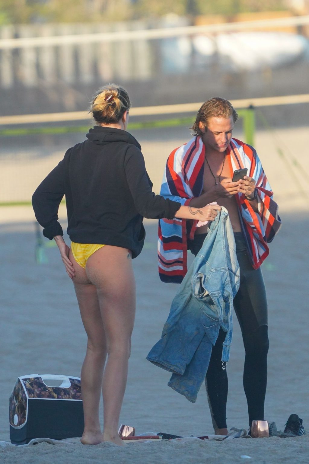 Ireland Baldwin Stands Out in a Bikini While at the Beach in Malibu (39 Photos)
