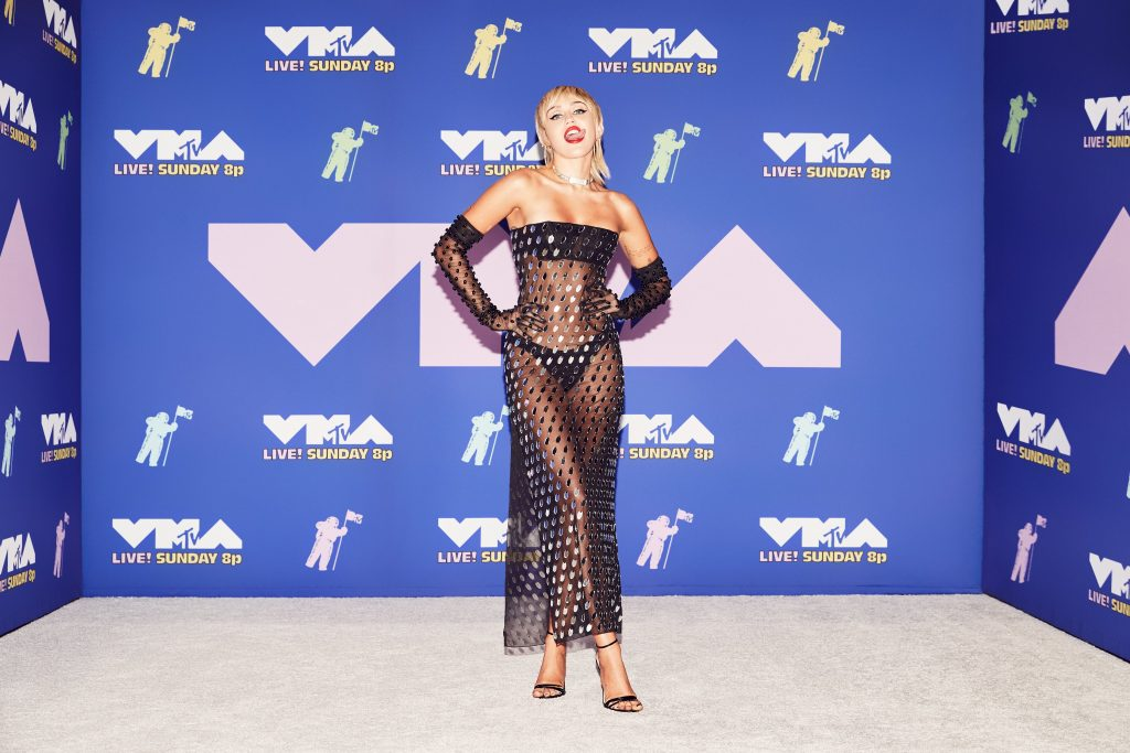 Miley Cyrus Swings on a Giant Disco Globe in a Very Risque Outfit at the MTV VMAs (52 Photos + Video)