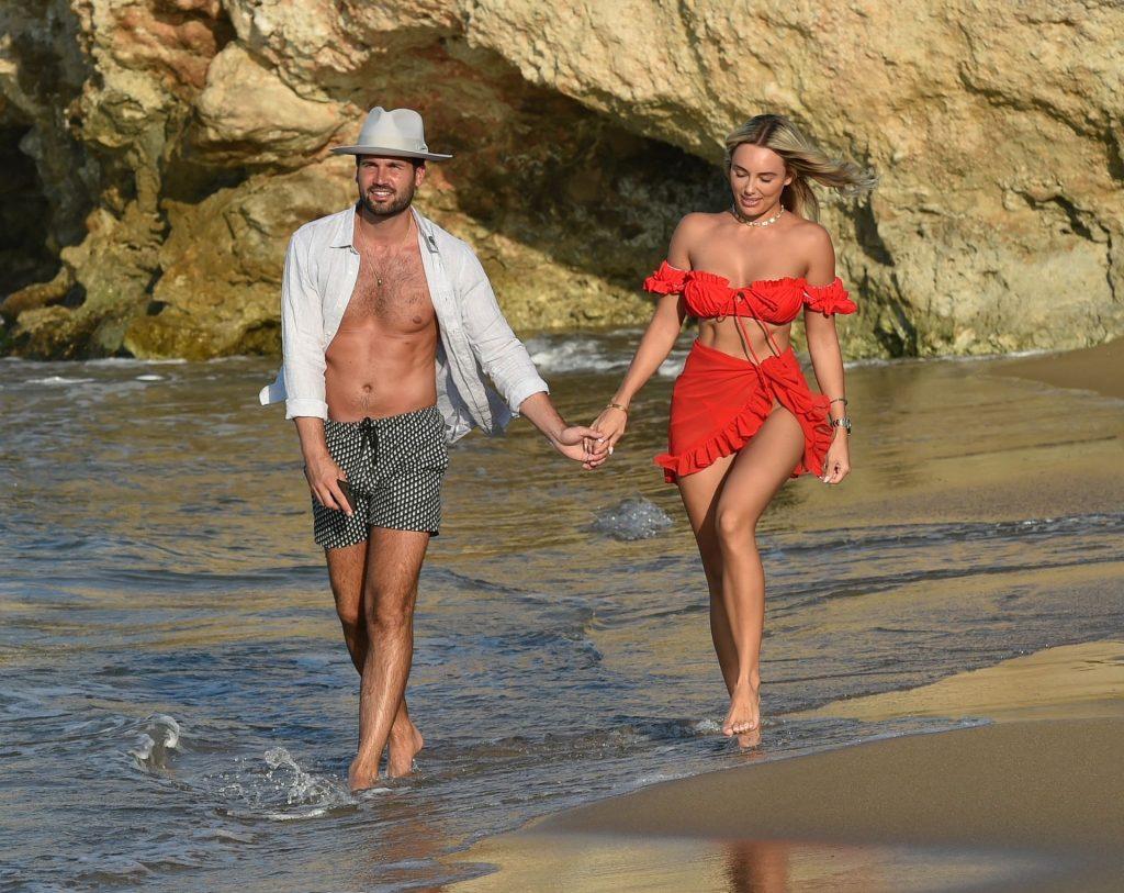 Amber Turner & Dan Edgar Look Loved Up as They Walk Along the Beach in Turkey (16 Photos)