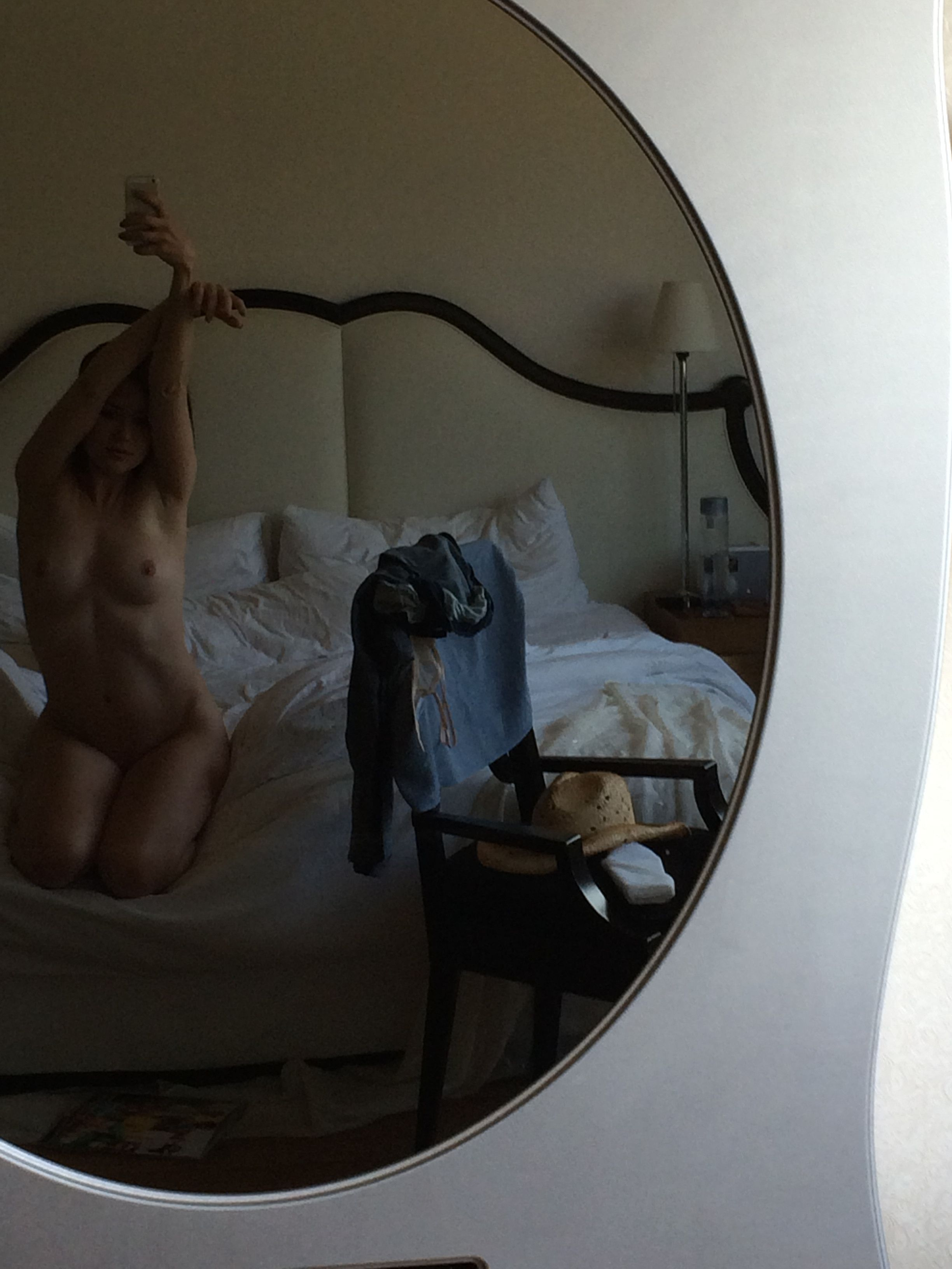 Megan Boone naked in the mirror