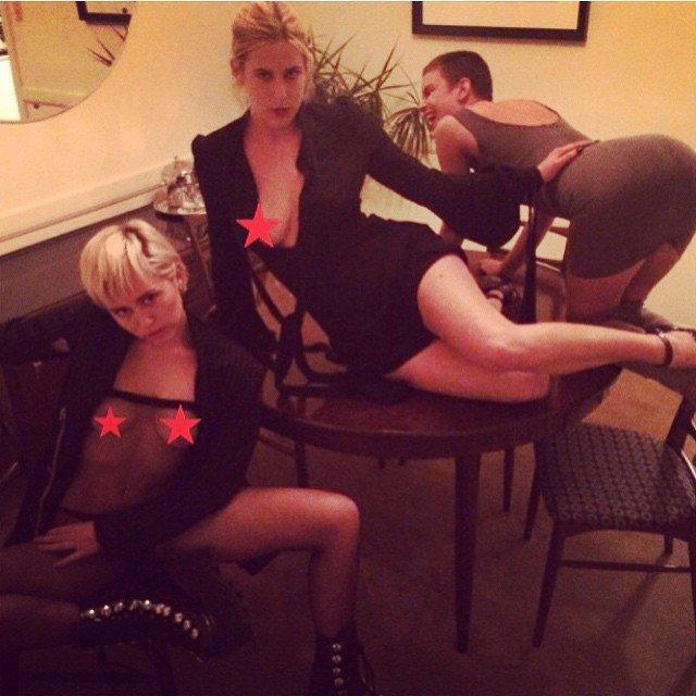 Topless Miley Cyrus Photos