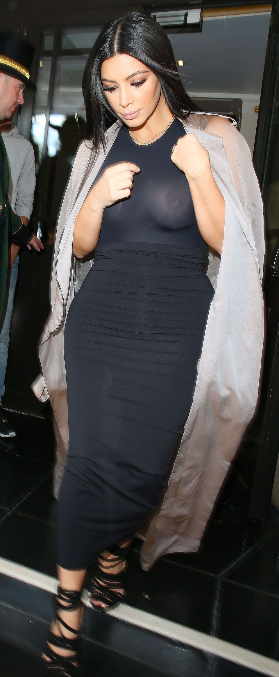 Kim Kardashian see through mesh