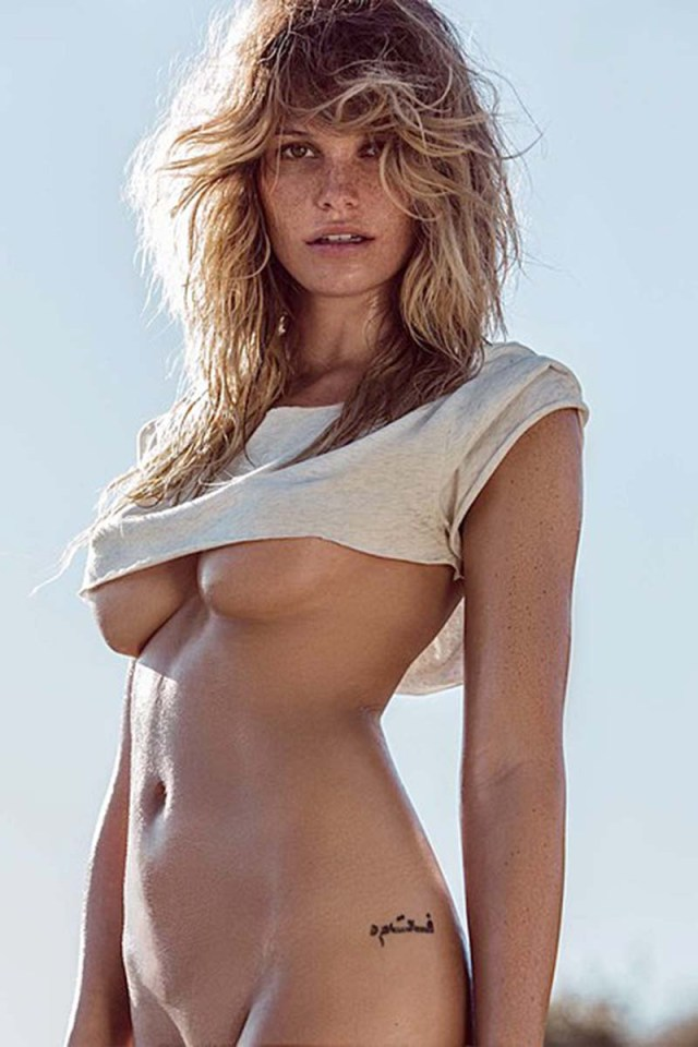 Samantha Hoopes Oiled Up Underboob 07