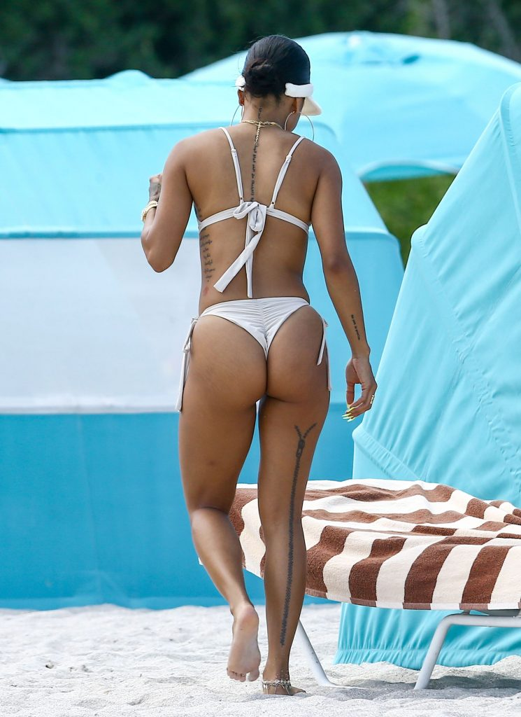 Karrueche Tran Showing Off Her Curvaceous Body