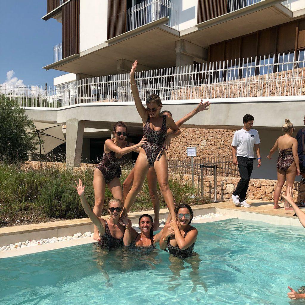 Billie Faiers, Sam Faiers, Ferne McCann Swimsuit
