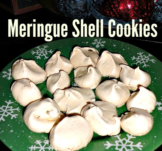 meringue shell cookies