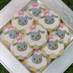 baby shower cookies, lambs, spring, easter, easter cookies