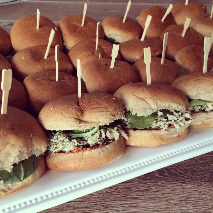 Pesto Chicken Party Sandwiches