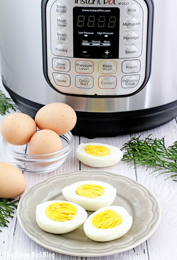 Have you ever tried boiling home eggs? We've always struggled to peel the shell off the home eggs! The shell will not separate from the egg white. You either have to hard boil home eggs that are at least a week old or put a couple of tablespoons of salt in the water. It was still a struggle sometimes!