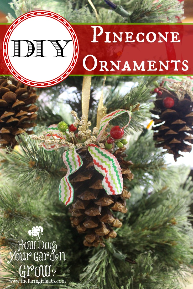 Create your own DIY Rustic Pinecone Christmas Ornaments. This is an easy craft project for kids and adults.