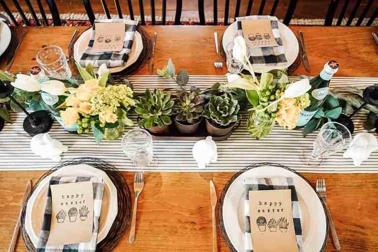 farmhouse table settings on a budget