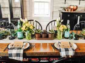 DIY Farmhouse Easter Tablescape – on a Budget!