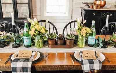 DIY Farmhouse Easter Tablescape – on a Budget!