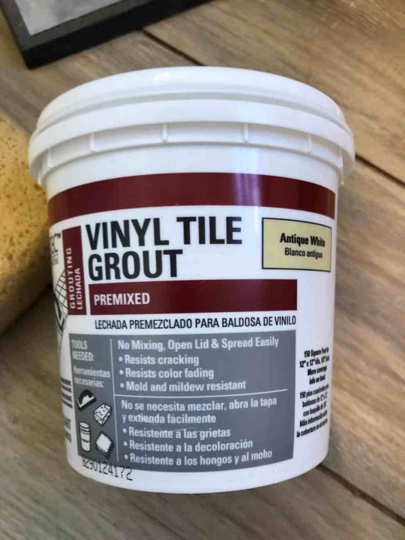 A pail of grout.