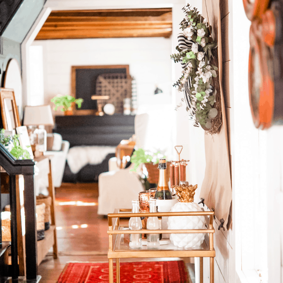 Bar cart essentials and styling