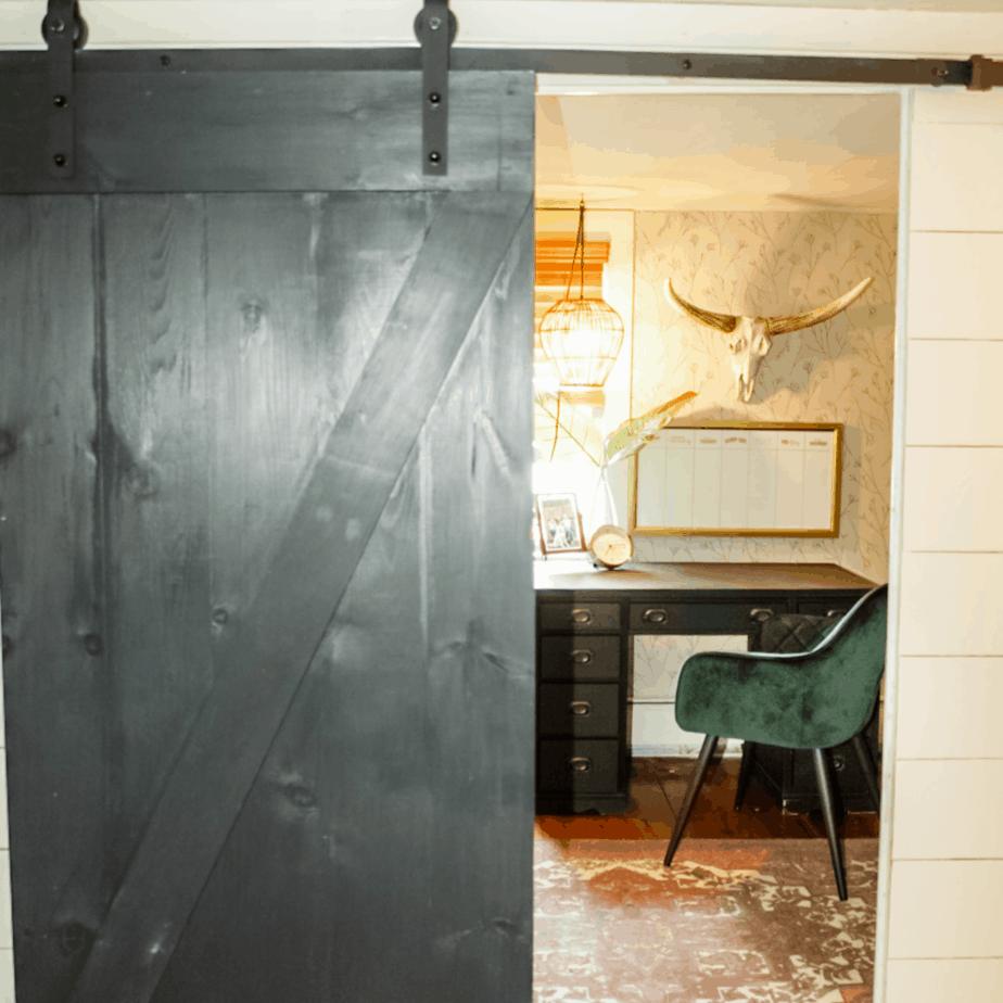 Easy DIY sliding barn door