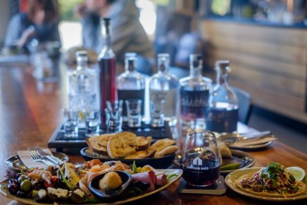 The Farm Shed serves a modern-rustic menu perfect for sharing and accompanying coffee, tea or tastings of wine, whisky or gin