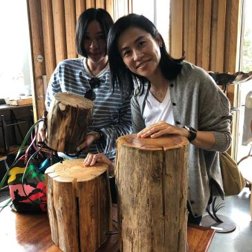 We recently sentthree of his log lamps to a lovely family in Hong Kong, to be followed by a propeller light once he's made another!