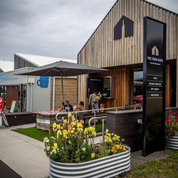 Morning dog-walkers and cafe hounds have a new hangout in Bicheno - Gather Tasmania is serving espresso plus fresh baked pastries through the window at The Farm Shed East Coast Wine Centre mornings from 6.30-10am