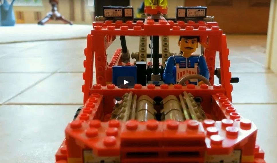 Lego man helps a poor Sap