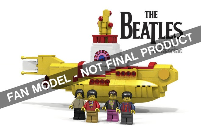Lego Ideas Yellow Submarine and Saturn V are Chosen