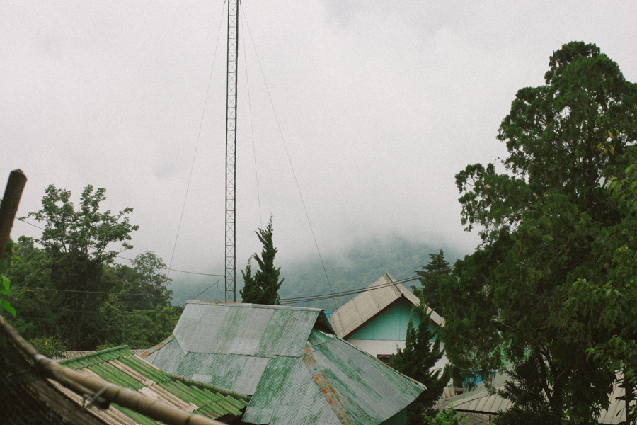 Foggy rooftops on a Mountain in Thailand. Travelling Thailand travel photologue.