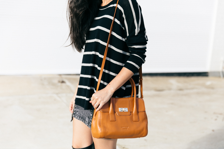 Scandinavian design bag, minimalist fashion blogger style outfit.