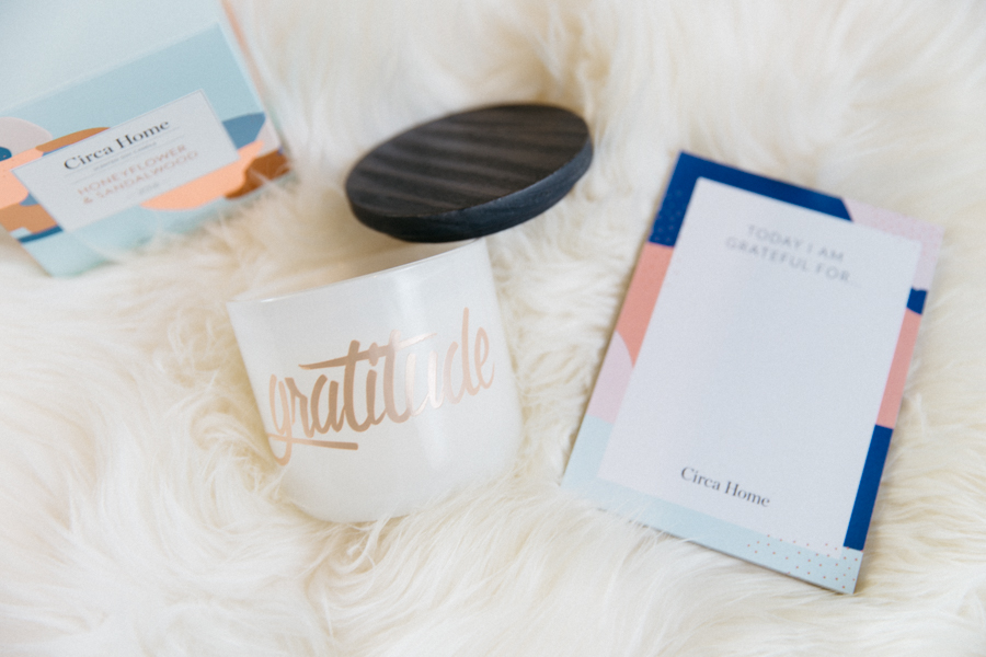 Gratitude candle, the perfect Mother's Day gift.
