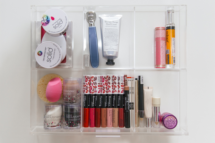 Organising your makeup collection.
